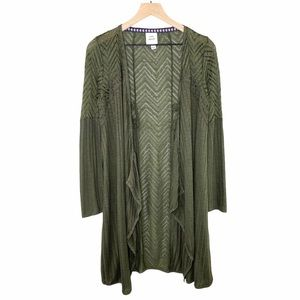 Knox Rose Olive Green Cardigan Size Small